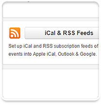 Real-time iCal and RSS feeds